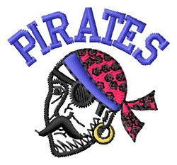 Pirates embroidery design