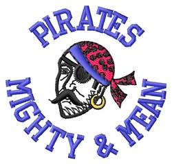 Mighty Pirates embroidery design