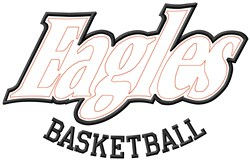 Eagles Basketball embroidery design