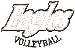 Eagles Volleyball embroidery design