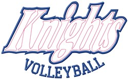 Knights Volleyball embroidery design