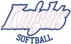Knights Softball embroidery design