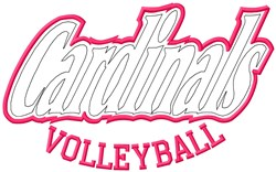 Cardinals Volleyball embroidery design