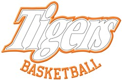 Tigers Basketball embroidery design