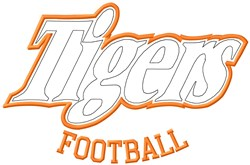 Tigers Football embroidery design