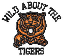 Wild About Tigers embroidery design