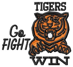 Go Fight Tigers embroidery design