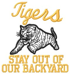 Tigers Backyard embroidery design