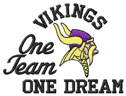 Vikings One Team embroidery design