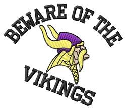 Beware Of Vikings embroidery design