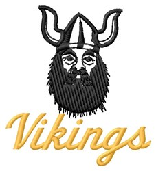 Vikings Mascot embroidery design