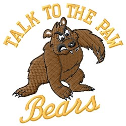Talk To Bears Paw embroidery design