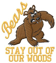 Bears Woods embroidery design