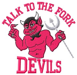 Talk Devils embroidery design