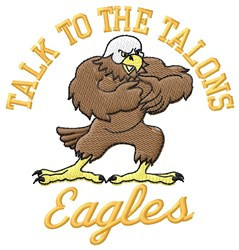 Eagles Talons embroidery design