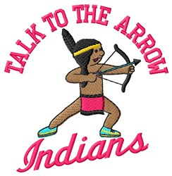 Indians Arrow embroidery design