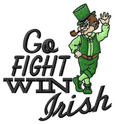 Go Fight Irish embroidery design