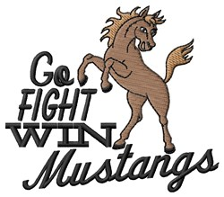 Go Fight Mustangs embroidery design