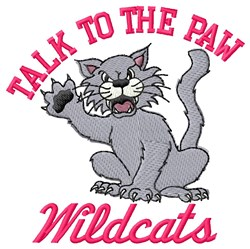 Talk To Wildcats Paw embroidery design