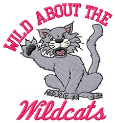Wild About Wildcats embroidery design