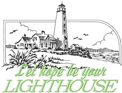 Hope Be Lighthouse embroidery design
