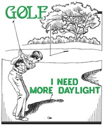 More Golf Daylight embroidery design