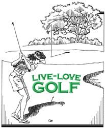 Live Love Golf embroidery design