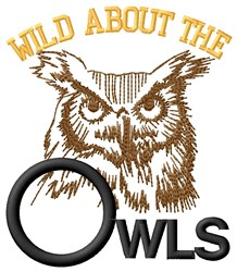 Wild About Owls embroidery design