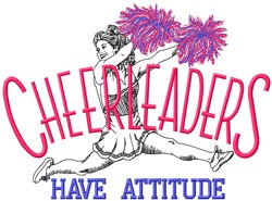 Cheerleaders Attitude embroidery design