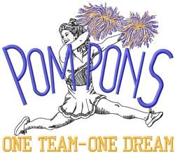 Pom Pons Team embroidery design