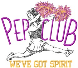 Pep Club Spirit embroidery design