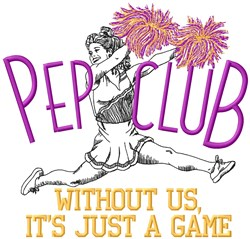 Pep Club Game embroidery design