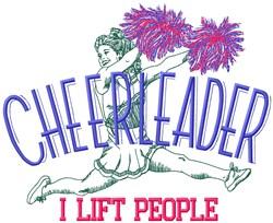 Cheerleader People embroidery design