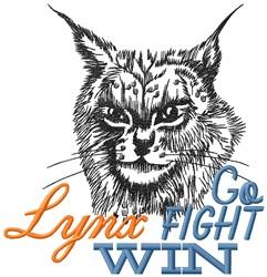 Lynx Go Fight embroidery design