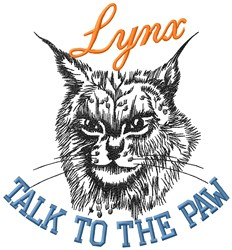 Lynx Paw embroidery design