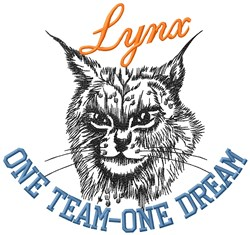 Lynx One Team embroidery design