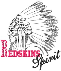 Redskins Spirit embroidery design
