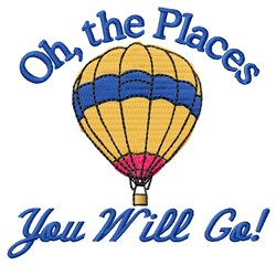 Places You Go embroidery design