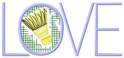 Badminton Love embroidery design