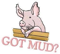 Got Mud? embroidery design
