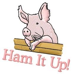 Ham Up embroidery design