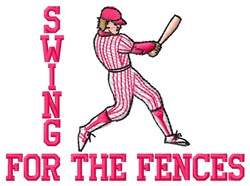 Swing For Fences embroidery design