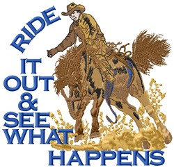 RIde It Out embroidery design