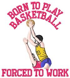 Play Basketball embroidery design