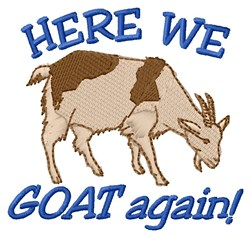 Goat Again embroidery design
