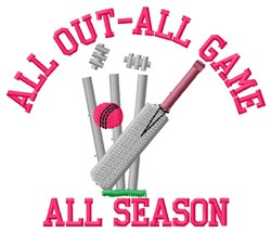 Cricket Season embroidery design