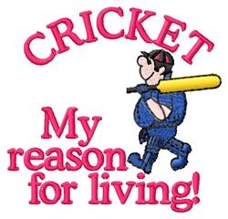 Cricket Reason embroidery design