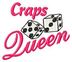 Craps Queen embroidery design