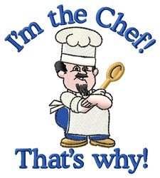 Im The Chef embroidery design