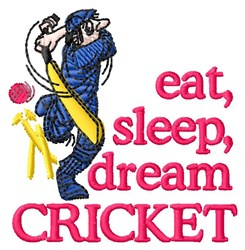 Dream Cricket embroidery design
